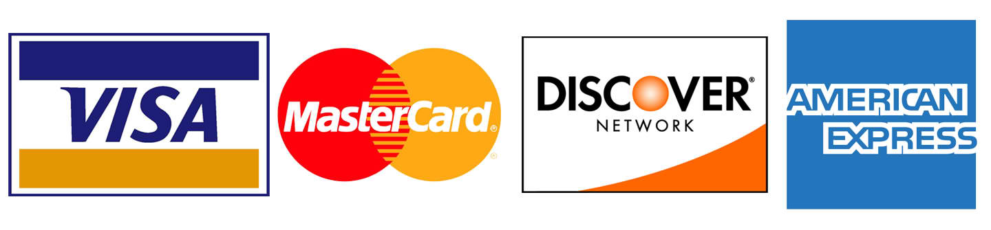 Credit Cards Accepted Logos