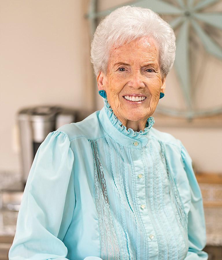 Portrait of a patient smiling.